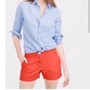 "EUC J Crew Coral Red Chino 4"" Shorts Sz 0"